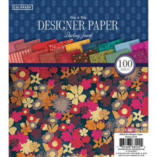 "Colorbok 6"" Designer Paper Pad, Darling Jewel"