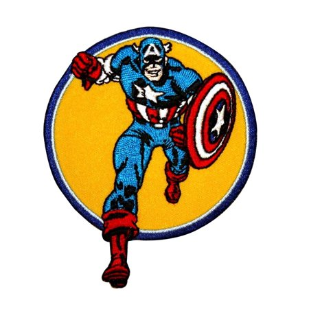 Captain America to the Rescue Superhero Patch Marvel Avengers Iron-On Applique