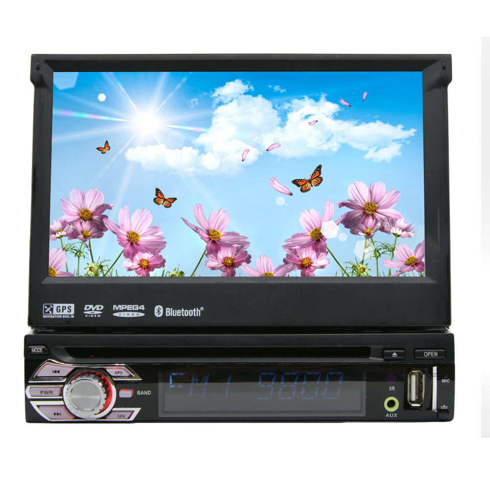 Single Din 7 Inch Car Stereo Windows Ce 6.0 Dash Single D...