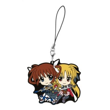 Magical Girl Nanoha The Movie 2nd Ichiban Kuji Nanoha & Fate Cell Phone Charm (Girl Cell Phone Charm)