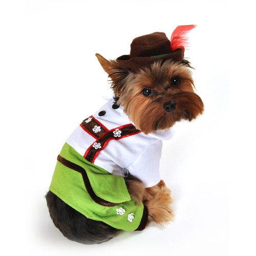 Anit Accessories Alpine Boy Lederhosen Dog Costume