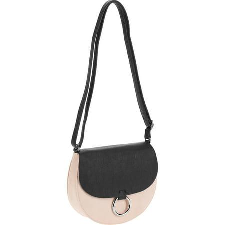 Ring Hobo Handbag Purse Bag - No Boundaries Women's Saddle Crossbody Handbag