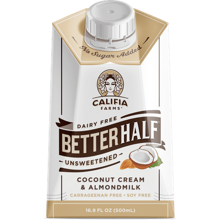 (3 Pack) Califia Farms Better Half Unsweetened Creamer, 16.9 fl oz