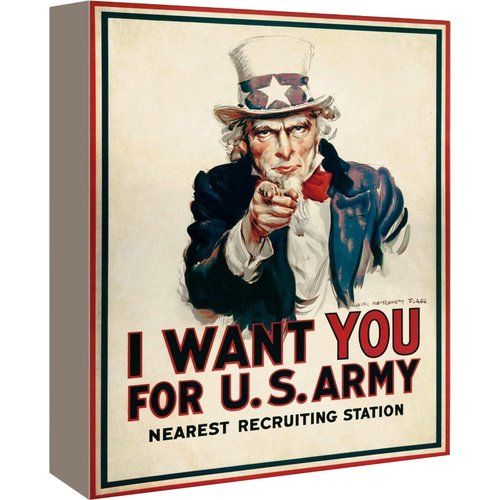 Americanflat Uncle Sam Graphic Art on Canvas