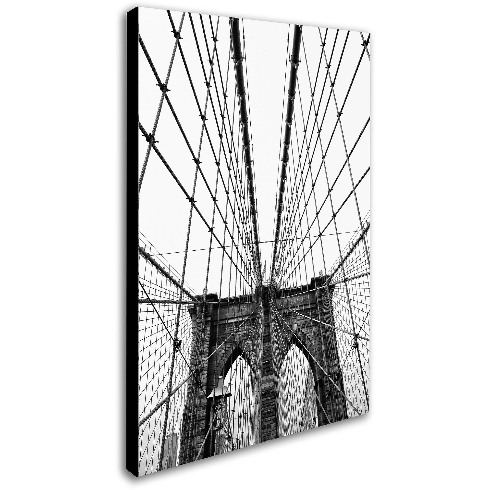 "Trademark Fine Art ""Brooklyn Bridge 3"" Canvas Art by CATeyes"