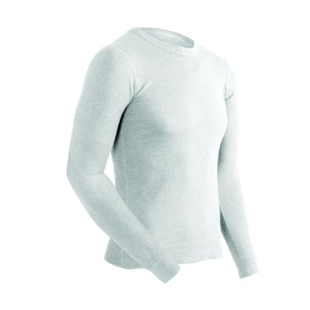 Coldpruf Authentic Series Cotton/Wool Blend Thermal Underwear Shirt, White