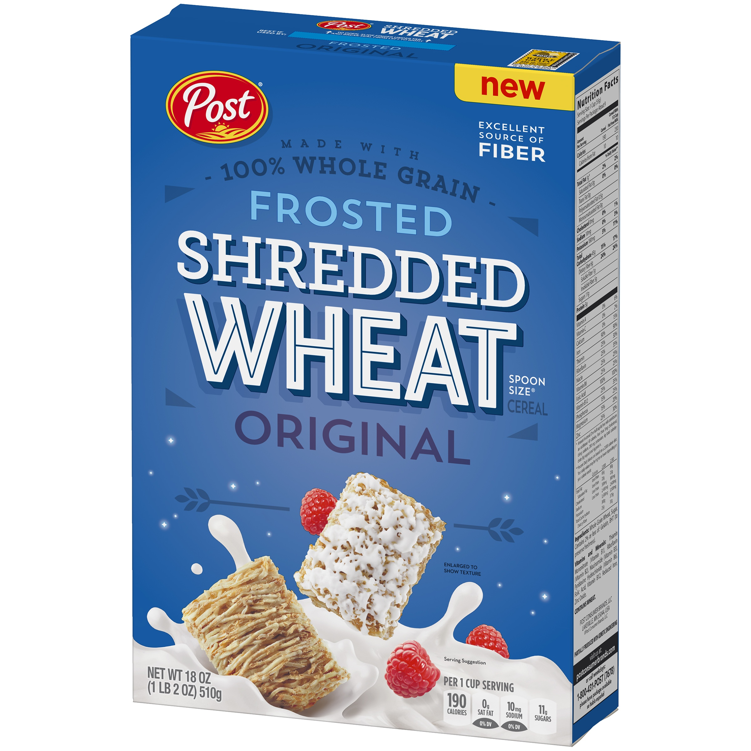 Post Shredded Wheat Cereal, Frosted, 18 Oz