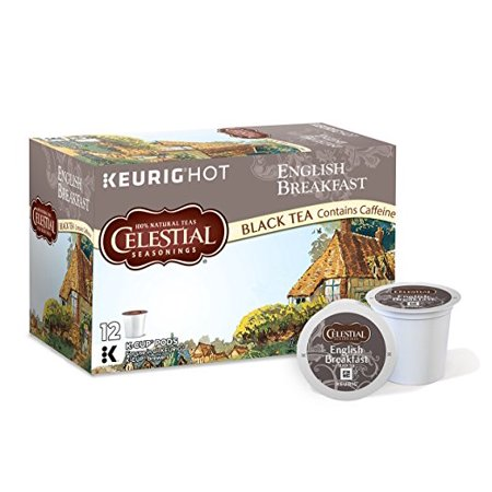 Celestial Seasonings English Breakfast Tea Keurig Single-Serve K-Cup Pods, 12 Count