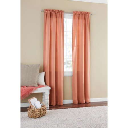 Mainstays Room Darkening Solid Woven Window Curtain Panel
