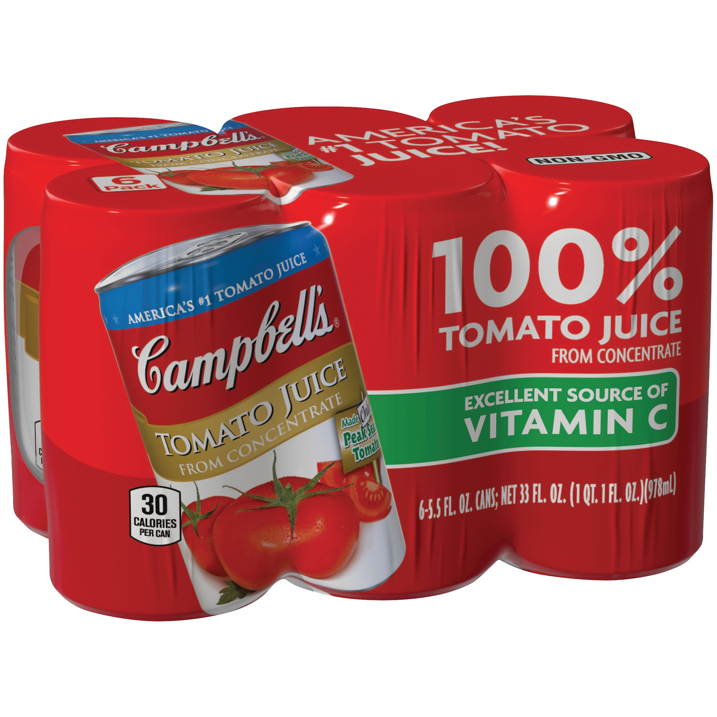 Campbell's Tomato Juice, 5.5 oz., 6 pack by Campbell Soup Company