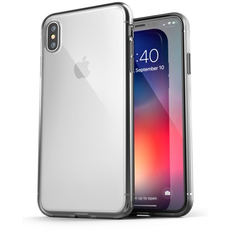 Encased Gems - iPhone XS Max Clear Case Slim, Ultra Thin Transparent Grip Phone Cover - Encased