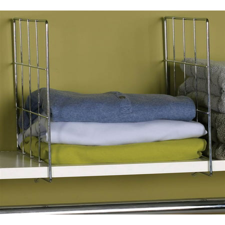 Household Essentials 2pc Wire Shelf Divider (Shelving Dividers)