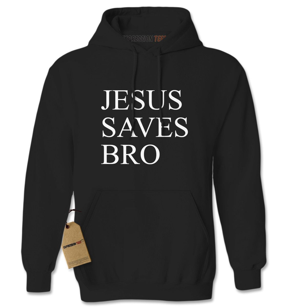 Jesus Saves Bro Adult Hoodie Sweatshirt