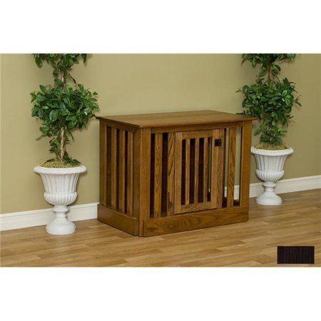 Pinnacle Woodcraft 81ec2544okesp Entertainment Center Dog Crate Oak – Espresso