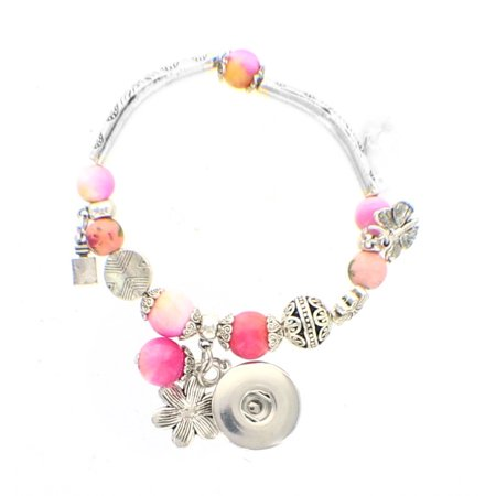 - Bracelet Crystal Ball Beads  DIY interchangeable Snap Button fits 18mm