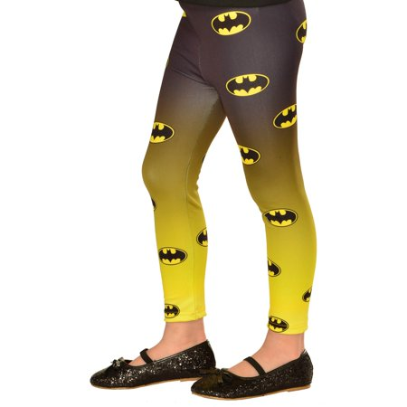 Footless Batgirl Halloween Costume Accessory Tights (Batgirl 20)