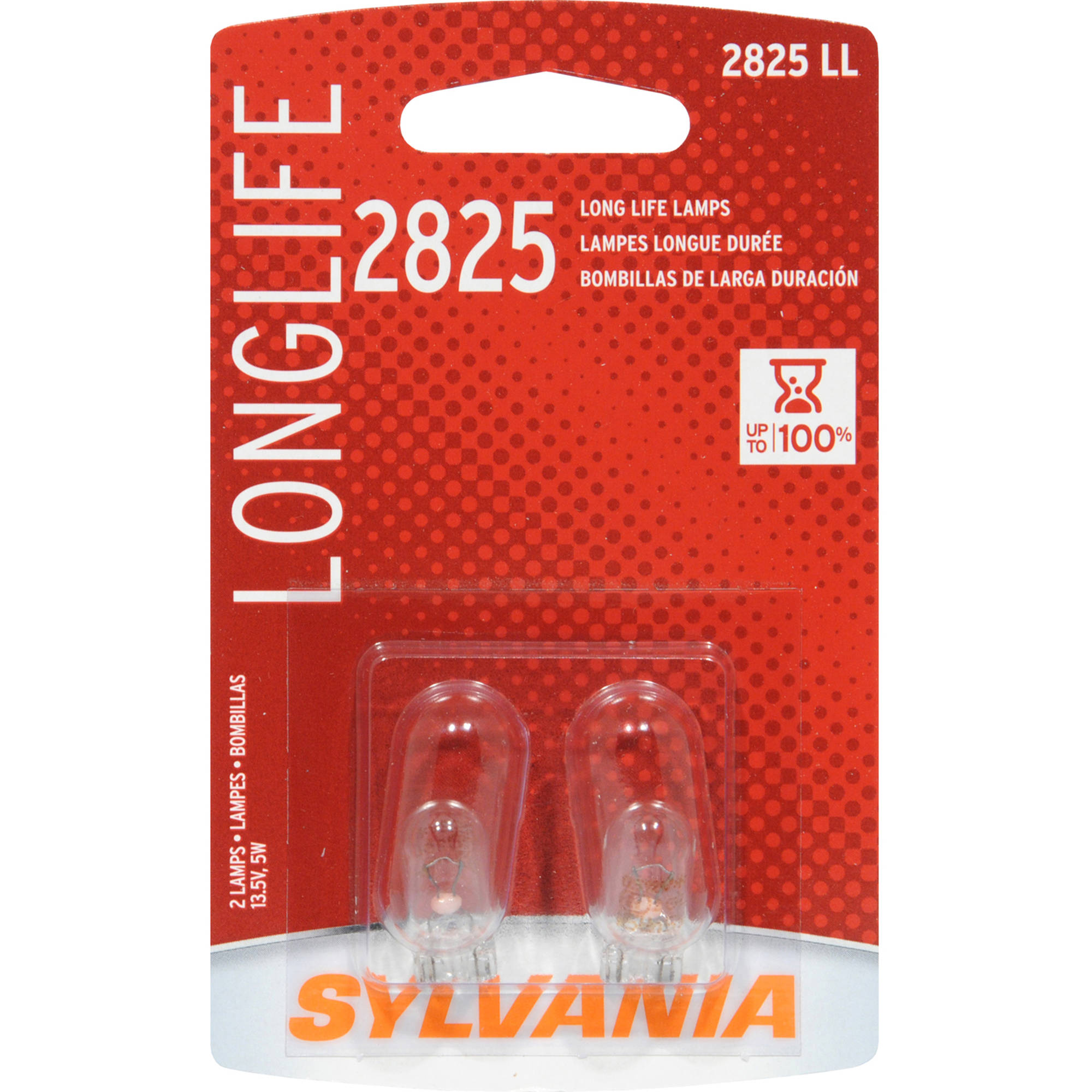 Sylvania 2825 Long-Life Miniature Bulb, Twin Pack