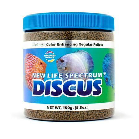 New Life Spectrum Discus Color-Enhancing Fish Food Pellets, Regular (1-1.5mm), 5.3 oz