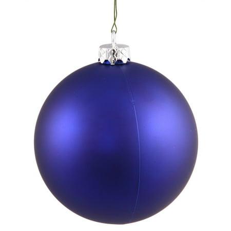 Matte Cobalt Blue UV Resistant Commercial Shatterproof Christmas Ball Ornament 4