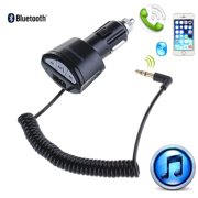 AGPtEK Car Bluetooth Adapter A2DP 3.5mm Car Handsfree Bluetooth AUX Stereo Audio Receiver Adapter USB Charger