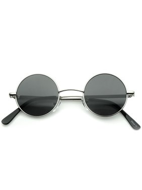 05a082877c Product Image Small Retro Lennon Inspired Style Neutral-Colored Lens Round Metal  Sunglasses 41mm - 41mm