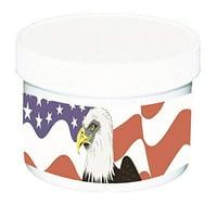 Hearing Aid Dehumidifier jar with Desiccant - Patriotic Design