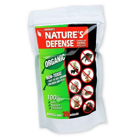 Nature's Defense Organic ALL Animal Repellent 2-PACK Repels 22 Different Animals Deer Rabbit Squirrel Raccoon Moles Feral Cats
