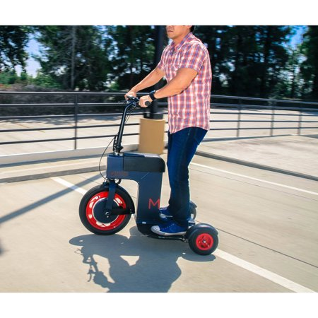 ACTON M Fully Foldable Electric Sit or Stand Scooter Black