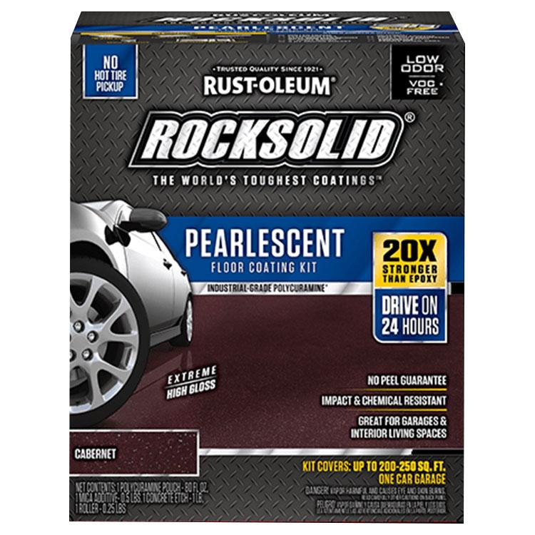 Rust-Oleum 306324 RockSolid Pearlescent Floor Coating Cabernet 1 Car Garage Kit