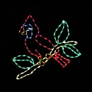 31 in. LED Small Cardinal on Branch Lighted Display - 144 Bulbs