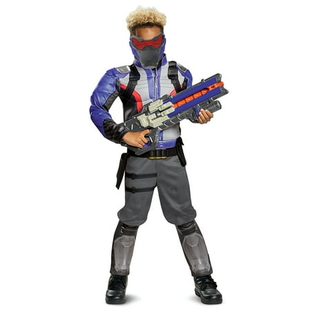 Overwatch Soldier 76 Classic Muscle Child Costume - Childrens Roman Soldier Costume