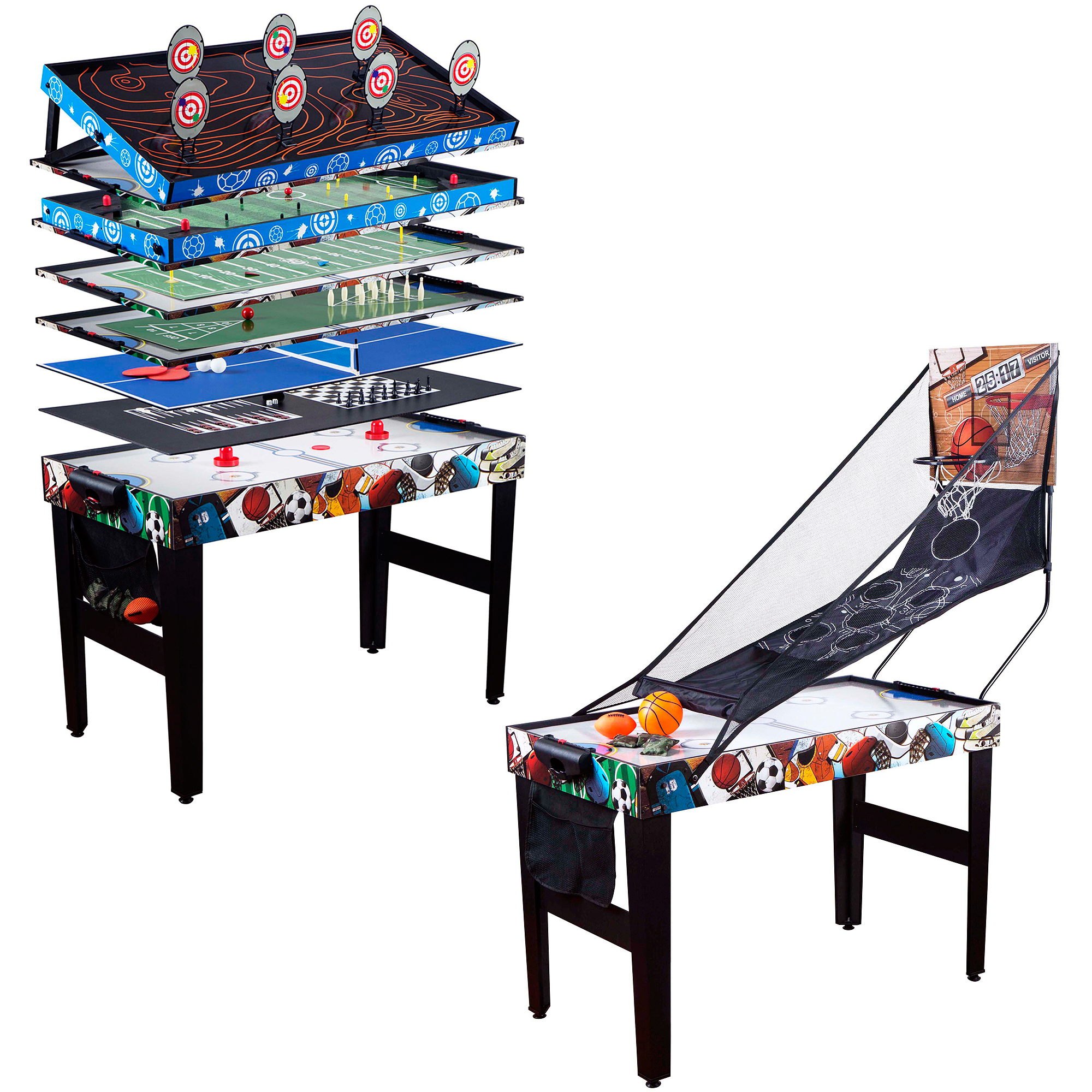 "Medal Sports 48"" 12-in-1 Multi-Game Table"