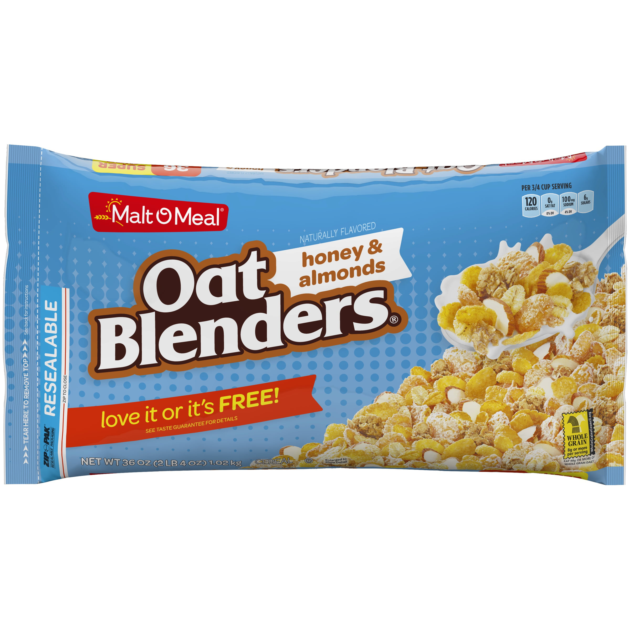 Malt-O-Meal Cereal, Oat Blenders Honey & Almond, 36 Oz
