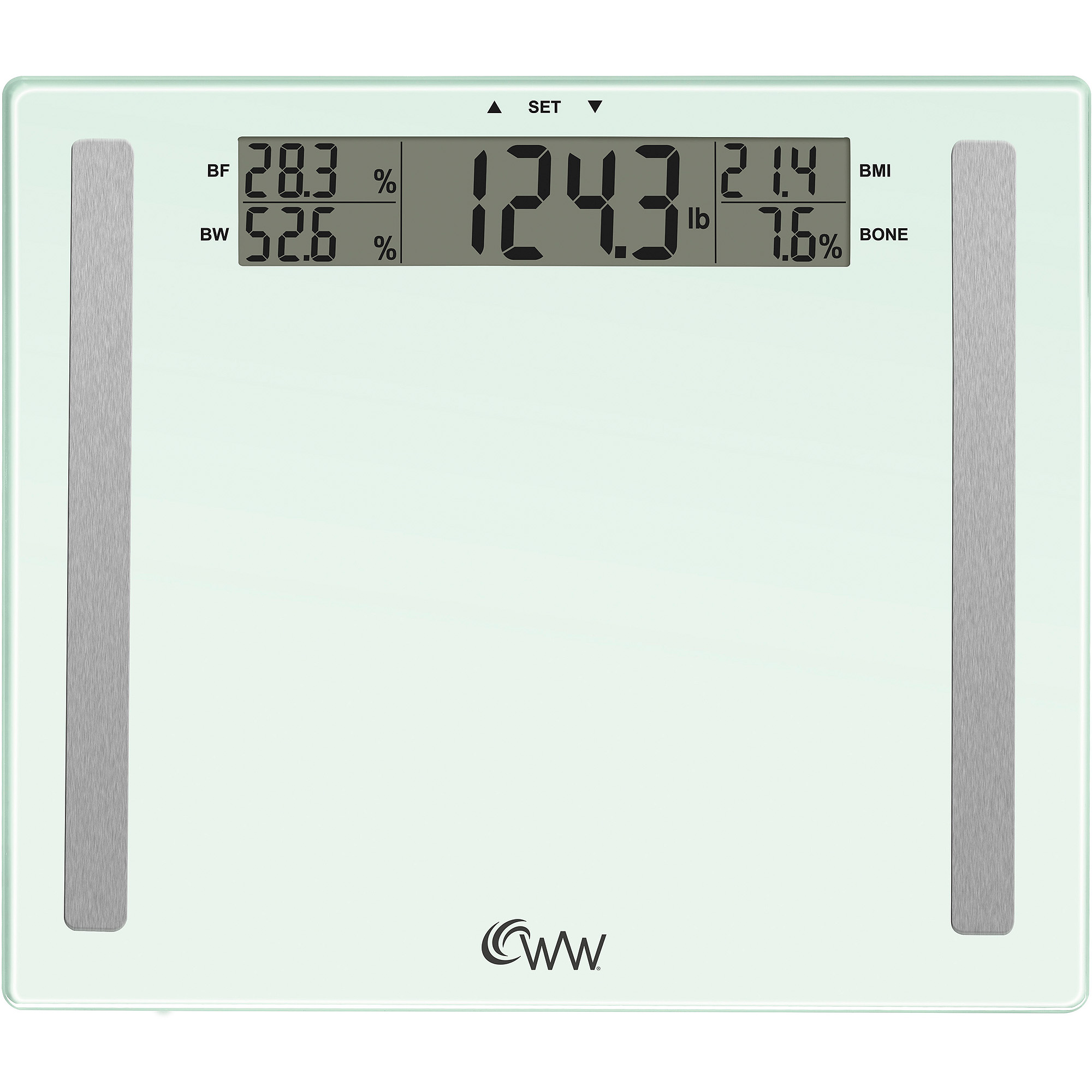 bathroom scale walmart. Weight Watchers by Conair 4 User Memory Glass Body Analysis Scale  Walmart com