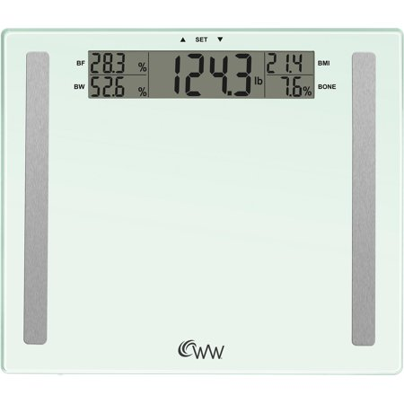 Weight Watchers by Conair 4-User Memory Glass Body Analysis Scale