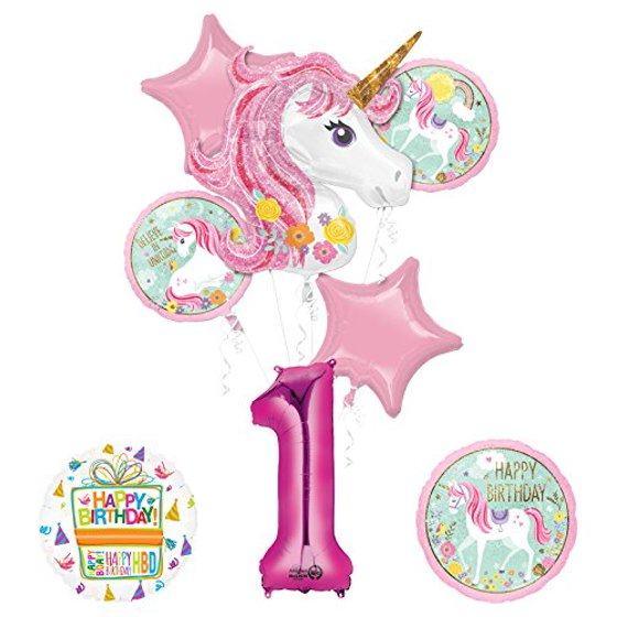 Unicorn Party Supplies Believe In Unicorns 1st Birthday Balloon Bouquet Decorations