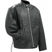 rocky mountain hides solid genuine buffalo leather motorcycle cruiser jacket- 2x