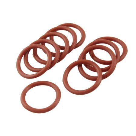 Unique Bargains 10 Pcs 21mm Outside Dia 2.5mm Thickness Silicone O Ring -