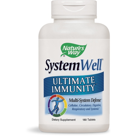 Natures Way SystemWell Ultimate Immunity Multi-System Defense 180 Tablets