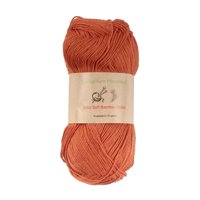 Baby Soft Bamboo Cotton Yarn - JubileeYarn - Burnt Orange - 4 Skeins