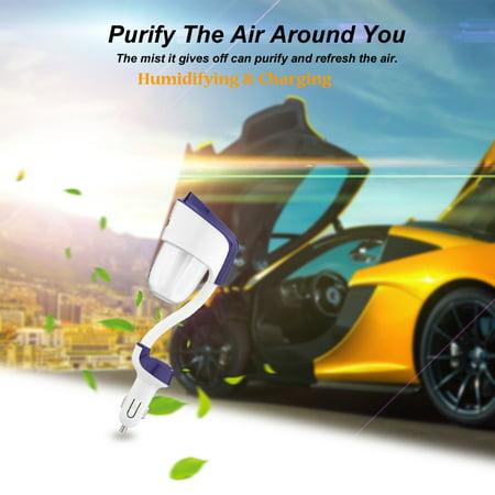 Nanum Mini DC 12V USB Auto Portable Car Humidifier Air Purifier Freshener Aroma Essential Oil Diffuser Aromatherapy Mist Maker Fogger for Travel - image 3 de 7