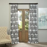 EFF OVERSTOCK EXCLUSIVE Ginko Embroidered Faux Linen Sheer Curtain