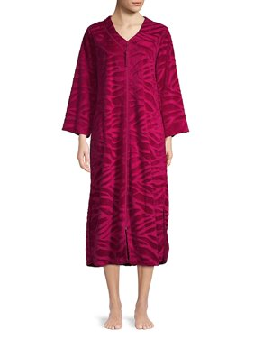 29b302993c Product Image Printed Tassel-Zip Robe. Product Variants Selector. CRANBERRY  NAVY. Miss Elaine