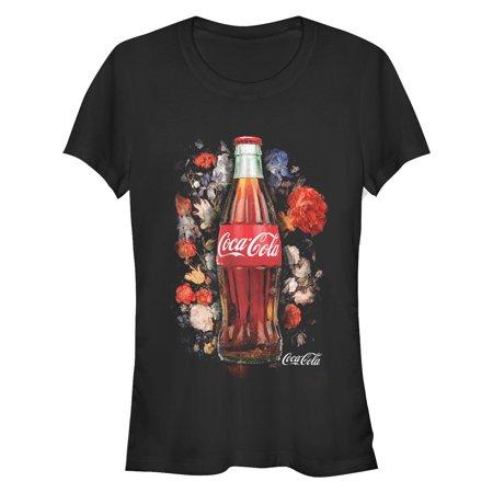 Coca Cola Juniors' Bottle Floral Print - Womens Coca Cola Shirt