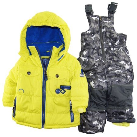 Rugged Bear Baby Boys Infant Winter 2 Piece Snowsuit In Camo