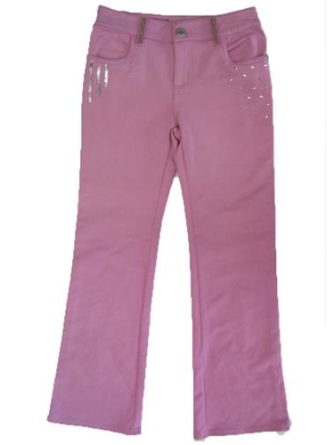 Girls Pink Hannah Montana Sequin Rhinestud Adorned Pants