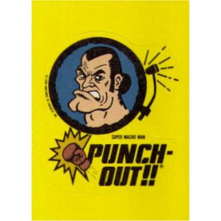 Macho Warrior Punch (Nintendo Punch Out Macho Man Topps Sticker)