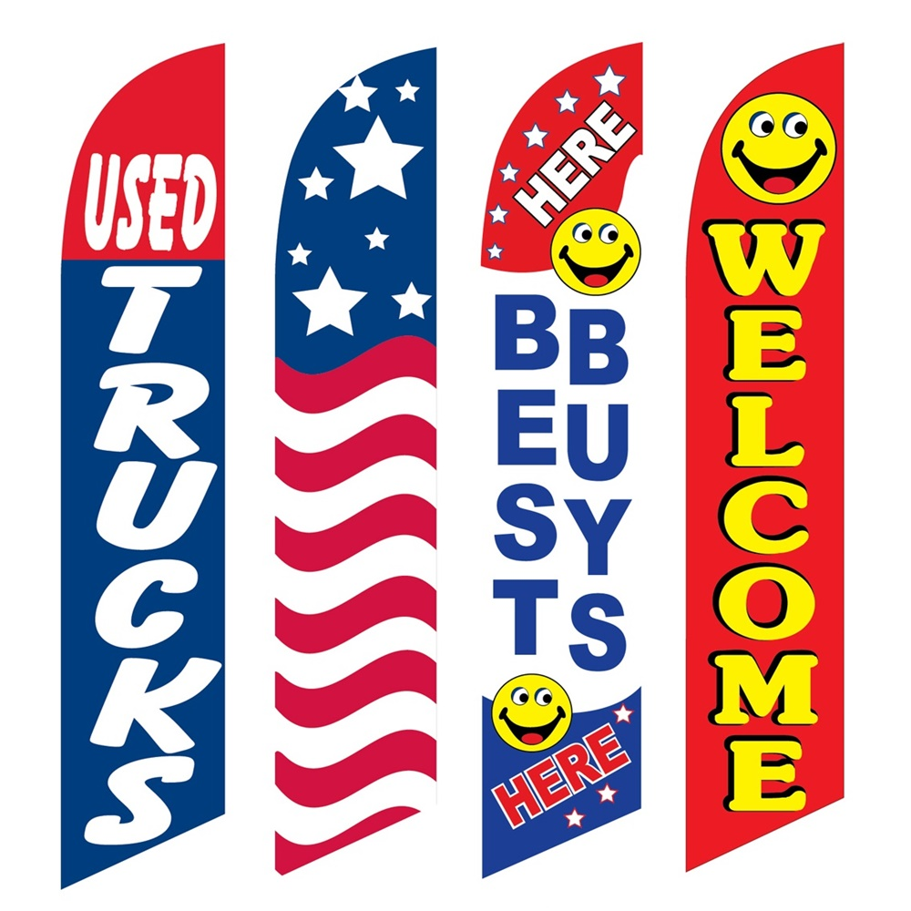 4 Advertising Swooper Flags Used Trucks USA Best Buys Here Welcome
