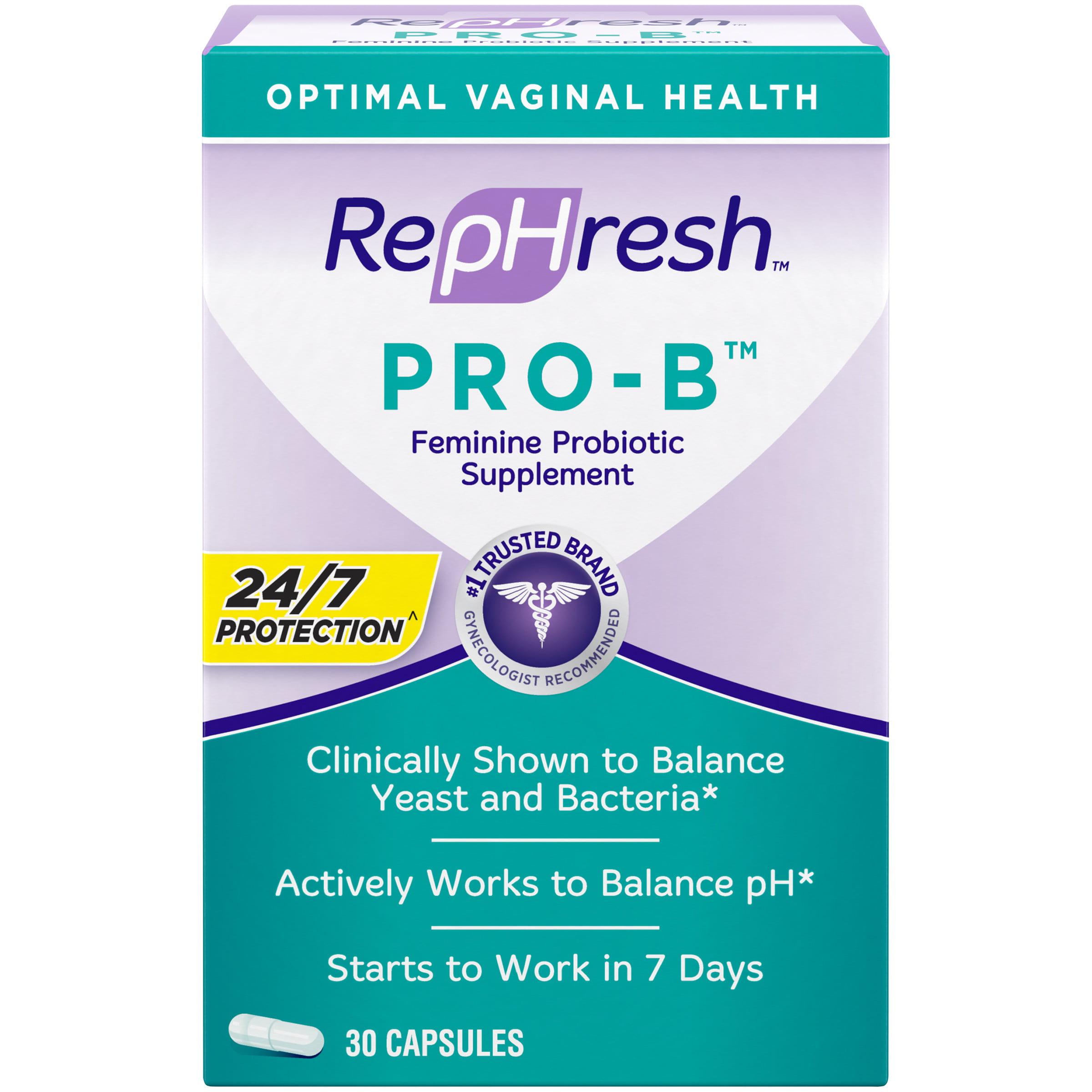 Rephresh Pro B Probiotic Supplement For Women 30 Oral Capsules Walmart Com Walmart Com