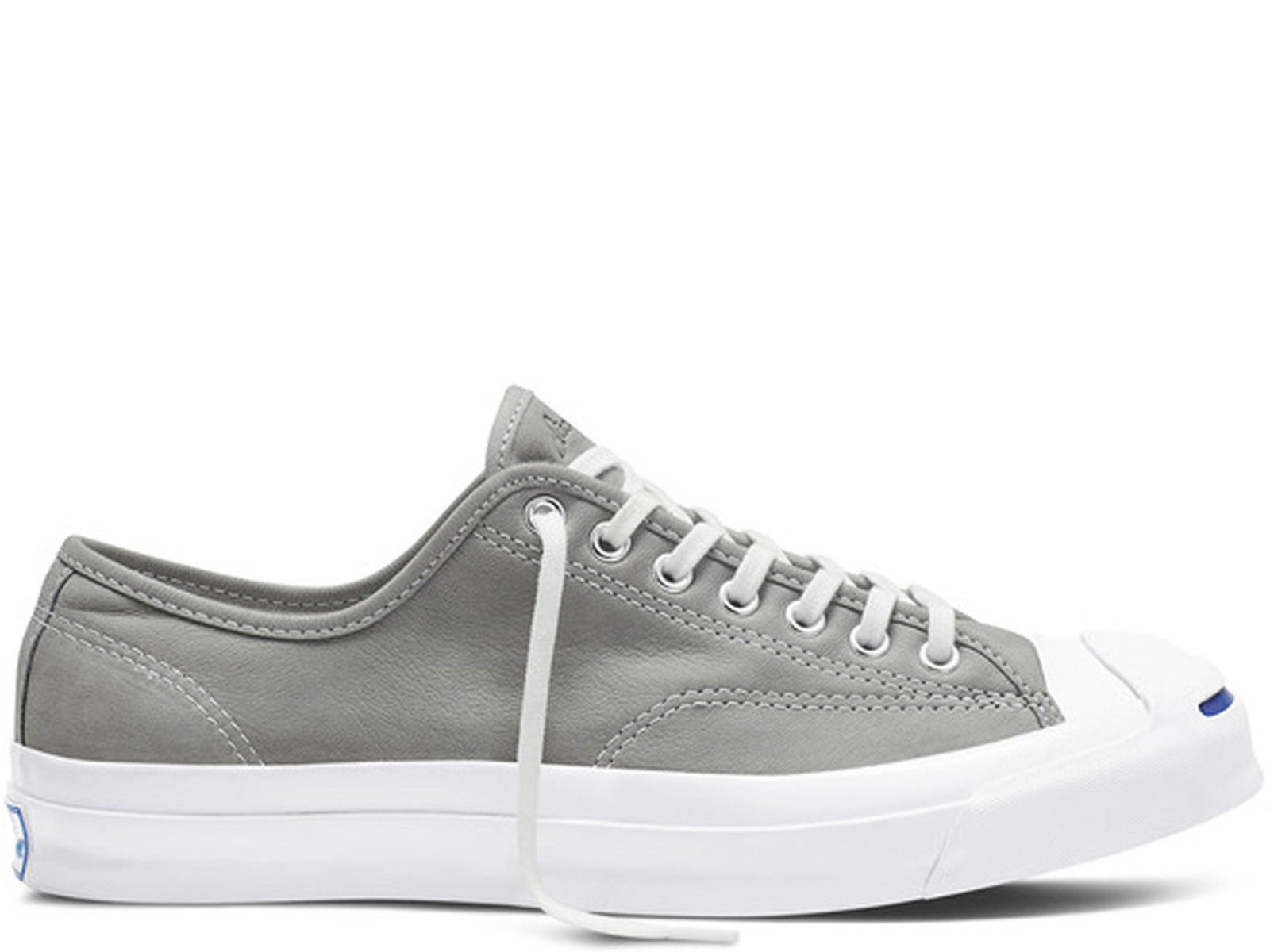 ff65636d109aa2 Mens Converse Jack Purcell Signature OX Grey White 151447C - Walmart.com